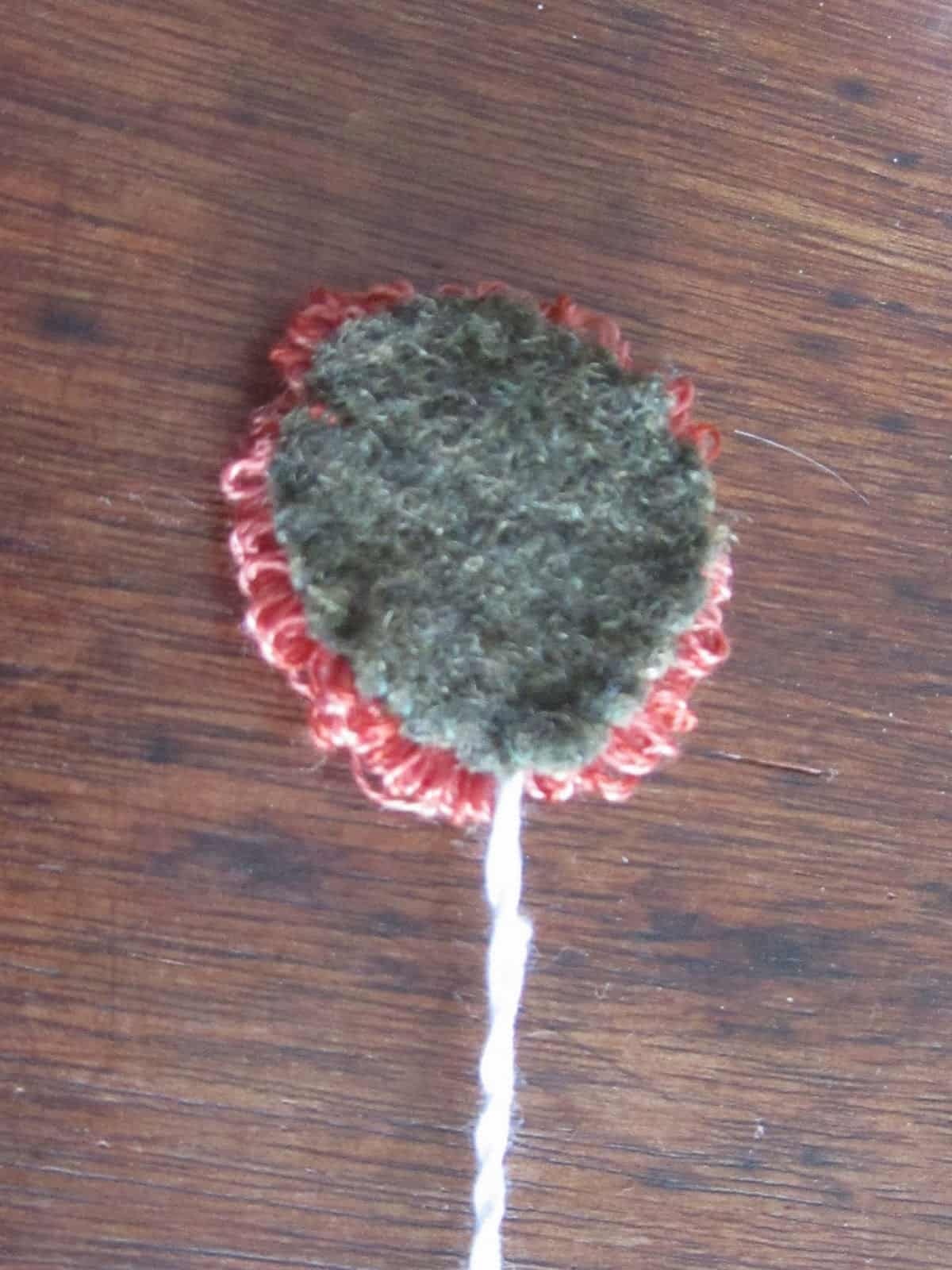 wool back on flower