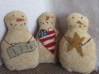 Patriotic Snowmen Bowl Fillers