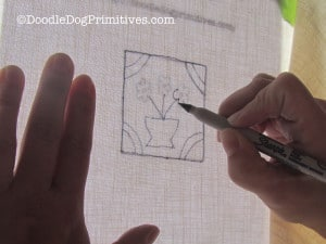 Tracing Punch Needle Pattern