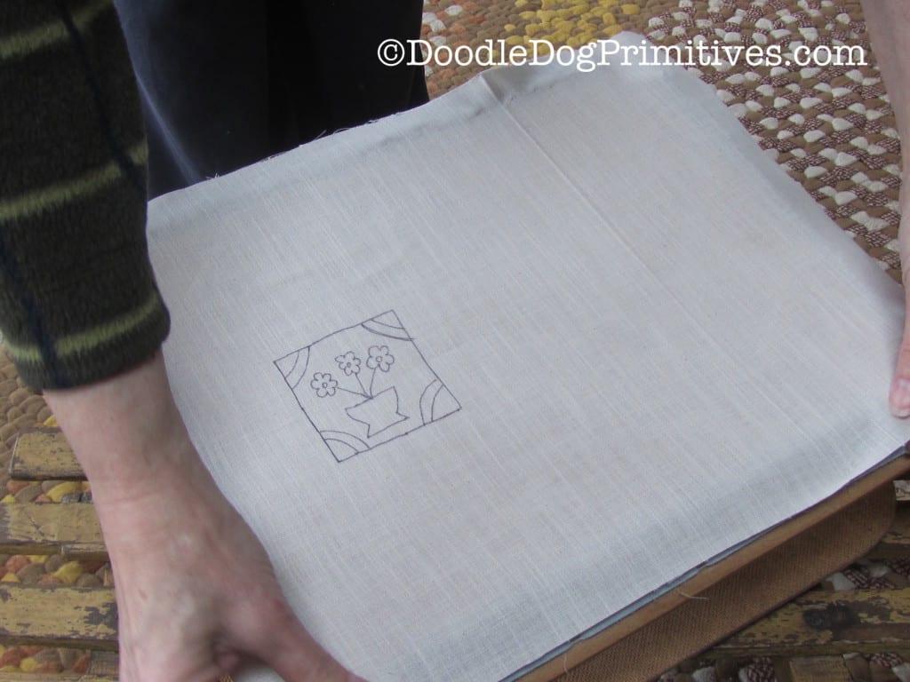 Pattern on Rug Frame