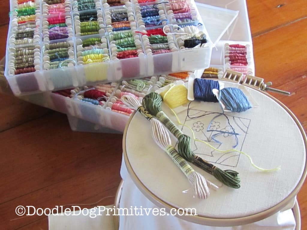 Threads Chosen for Punch Needle Project