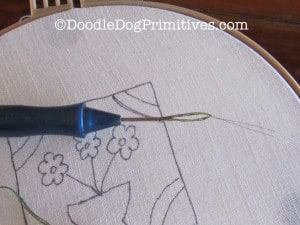 Threading the Punch Needle