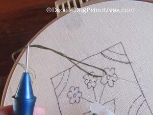 Threading the Punch Needle