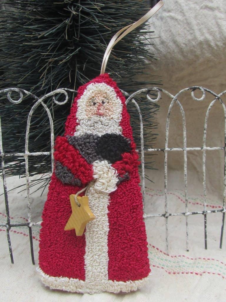 Santa with Sheep Ornament