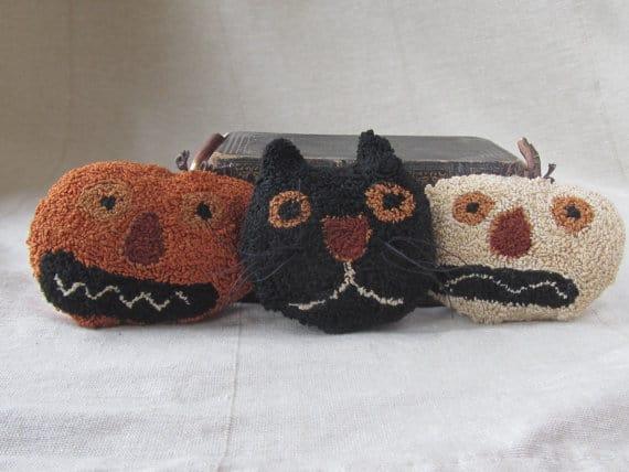 Spooky Trio Needle Punch Pattern