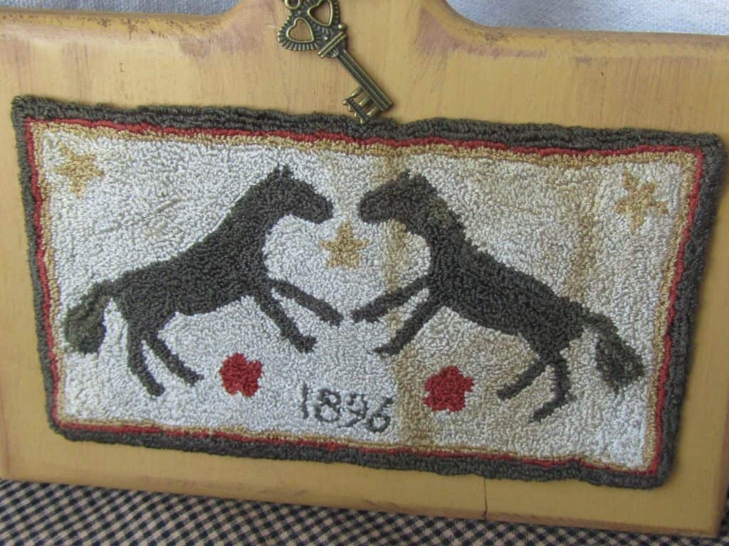 Horse Love Mounted on Horn Book