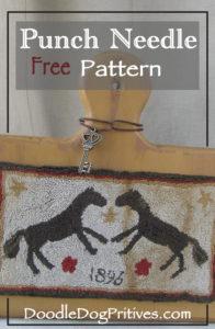 Horse Free Punch Needle Pattern