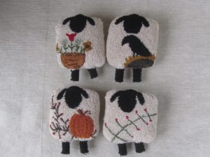 The Four Sheep-sons Needle Punch Pattern