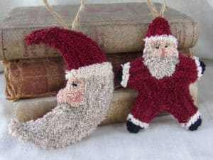 Santa Punch Needle Ornaments
