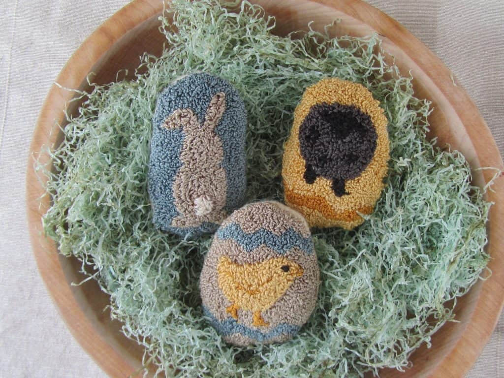 Punched Easter Eggs