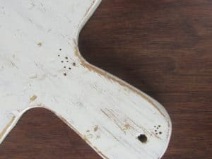 Board with nail holes