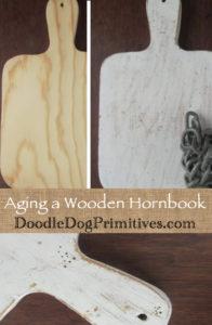 Aging a wooden hornbook
