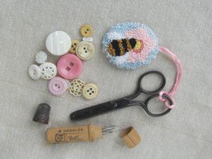 Bee & Blossom Scissor Fob