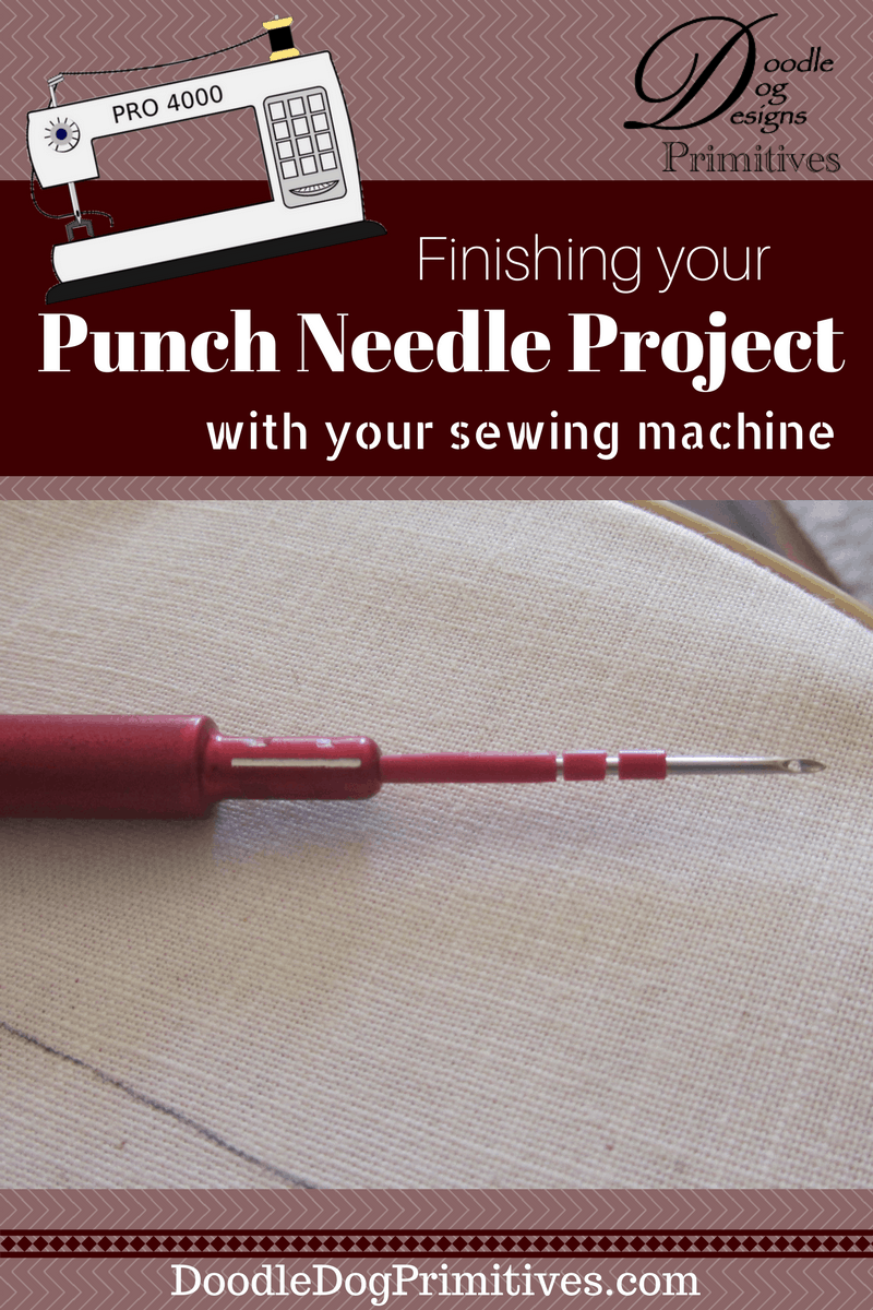 Finishing your punch needle project with your sewing ...