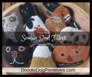 Sewing bowl fillers by hand