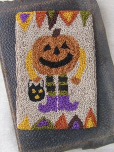 All Dressed Up Pumpkin Man Punch Needle