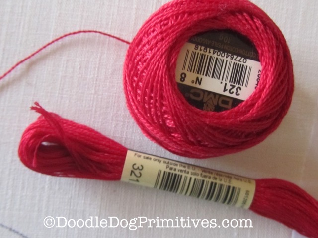 Red Embroidery Floss