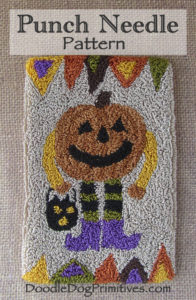 Pumpkin Man punch needle pattern