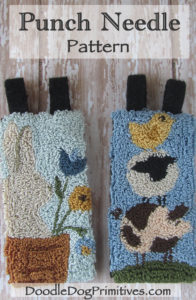 March & April banners punch needle pattern
