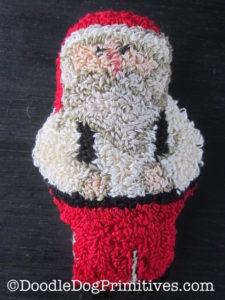 Santa punch needle