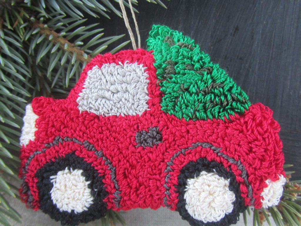 Vintage Red Truck Punch Needle Pattern