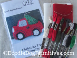Vintage Red Truck Punch Needle Kit