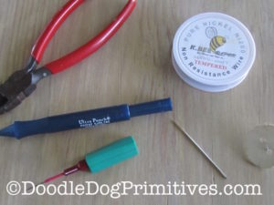 Tools needed to make punch needle threader