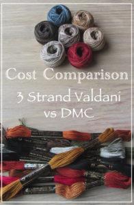 Cost Comparison of 3 Strand Valdani vs DMC