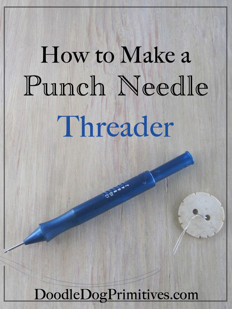 How to make a punch needle threader