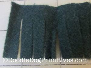 Cut wool for tree