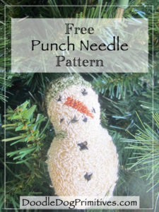 Free Snowman Punch Needle Pattern