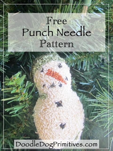 Free Snowman Punch Needle Pattern