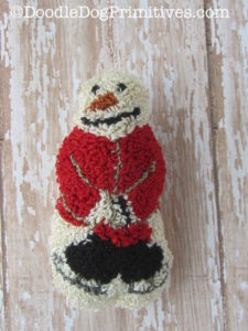 Punch Needle Snowman with Skates