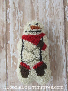 Punch Needle Snowman with Mittens