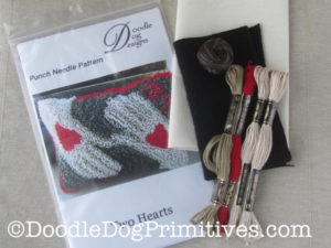 Two Hearts Punch Needle Kit