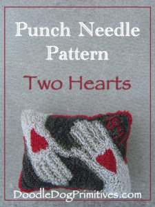 Two Hearts Punch Needle Pattern