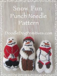 Snow Fun Punch Needle Pattern