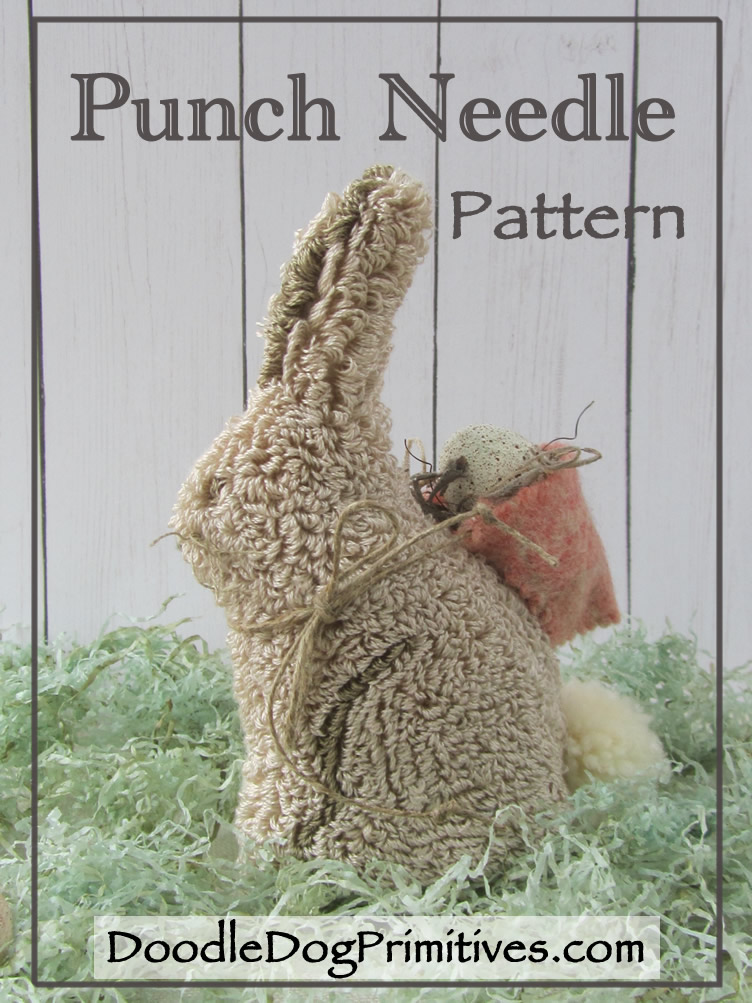 Bonnie Bunny Punch Needle Pattern