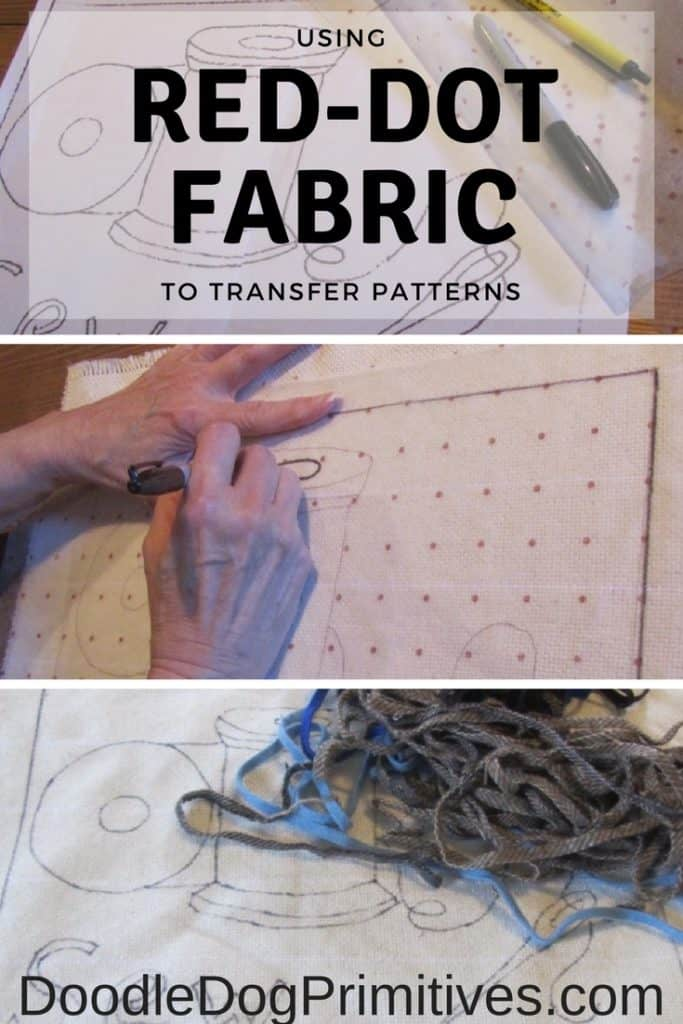 Using Red Dot Fabric to Transfer Patterns