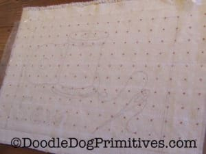 Using Red Dot Fabric to Transfer Rug Hooking Patterns
