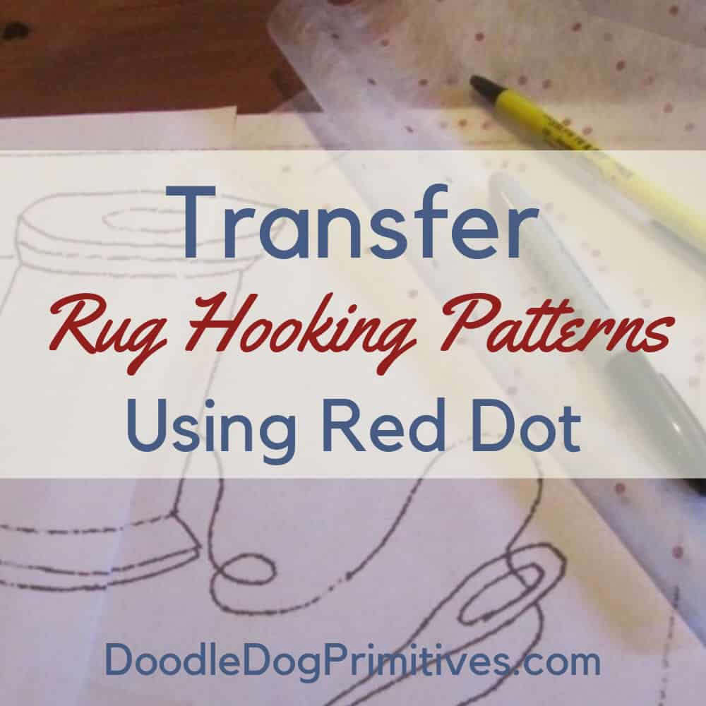 Transfer pattern with red dot fabric