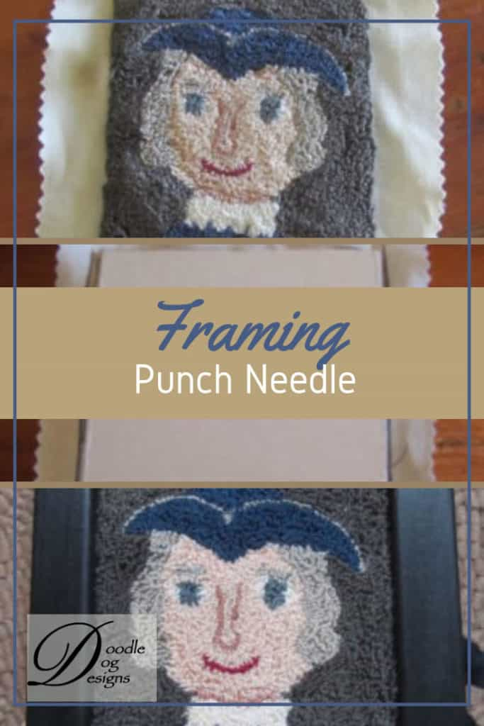 How to frame a punch needle project