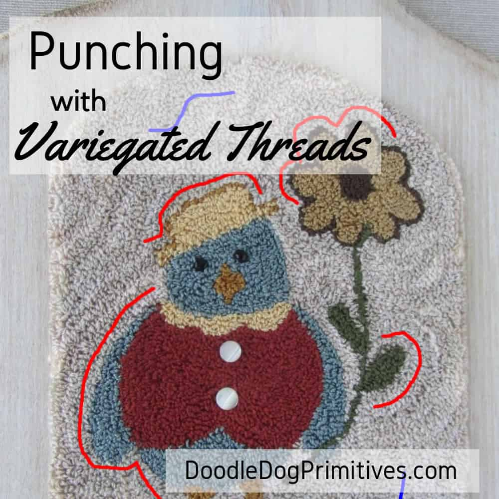 Punching with Variegated Threads