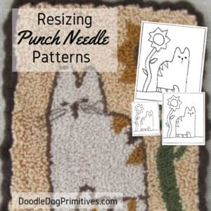 Resizing a punch needle pattern