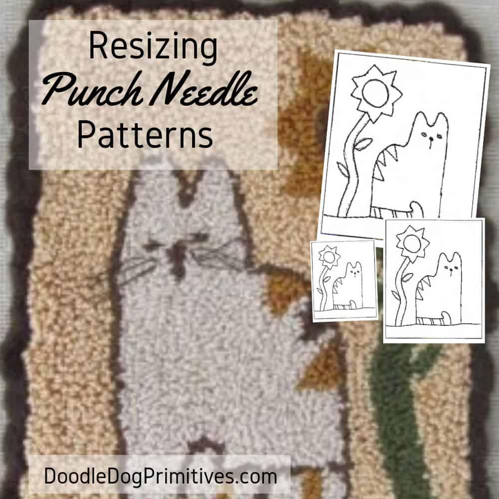 Resizing a punch needle pattern