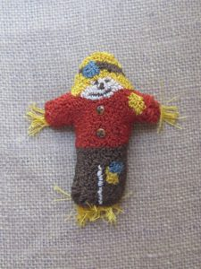 Sam the Scarecrow punch needle pattern