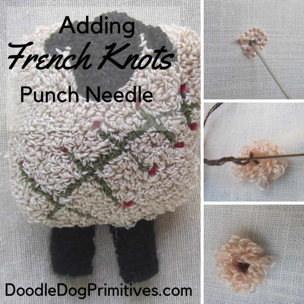 Add french knots to punch needle