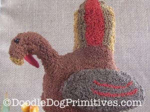 Free Turkey Punch Needle Pattern