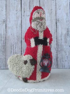 3 dimensional punch needle Santa