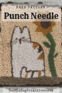 Free Calico Cat punch needle pattern